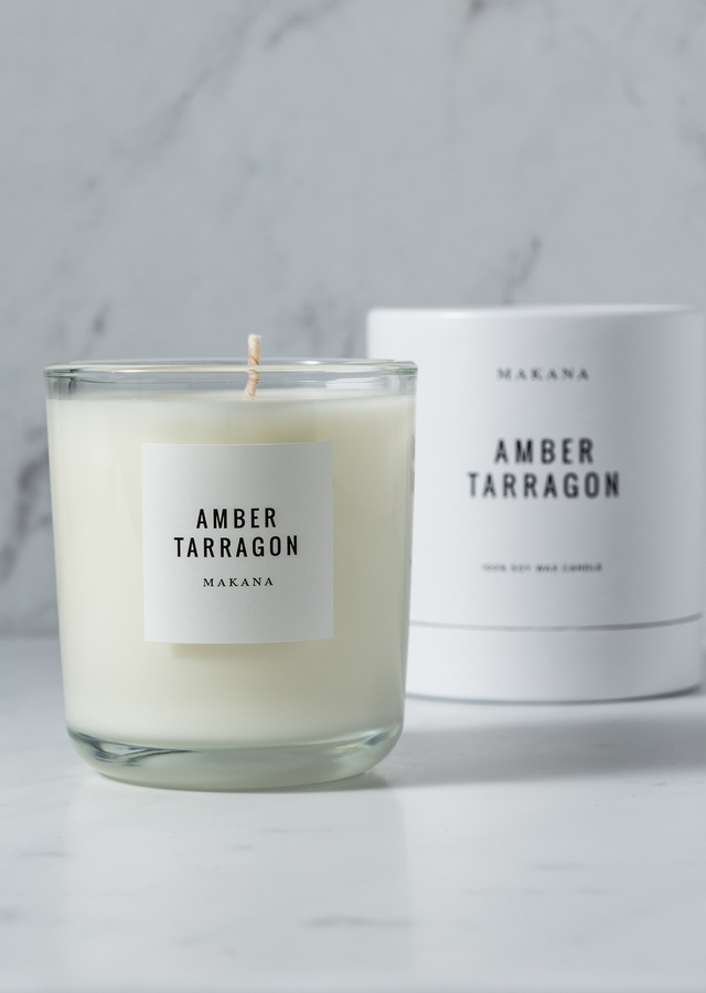 Display of Amber Tarragon - Classic Candle by The Flower Alley