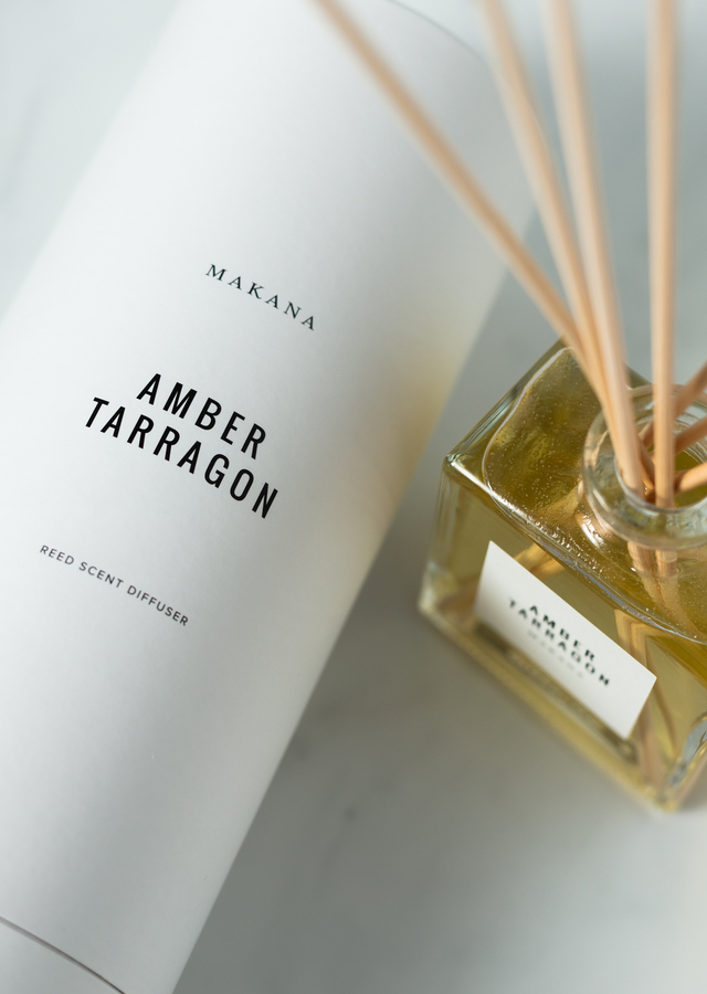 Display of Amber Tarragon Reed Diffuser by The Flower Alley