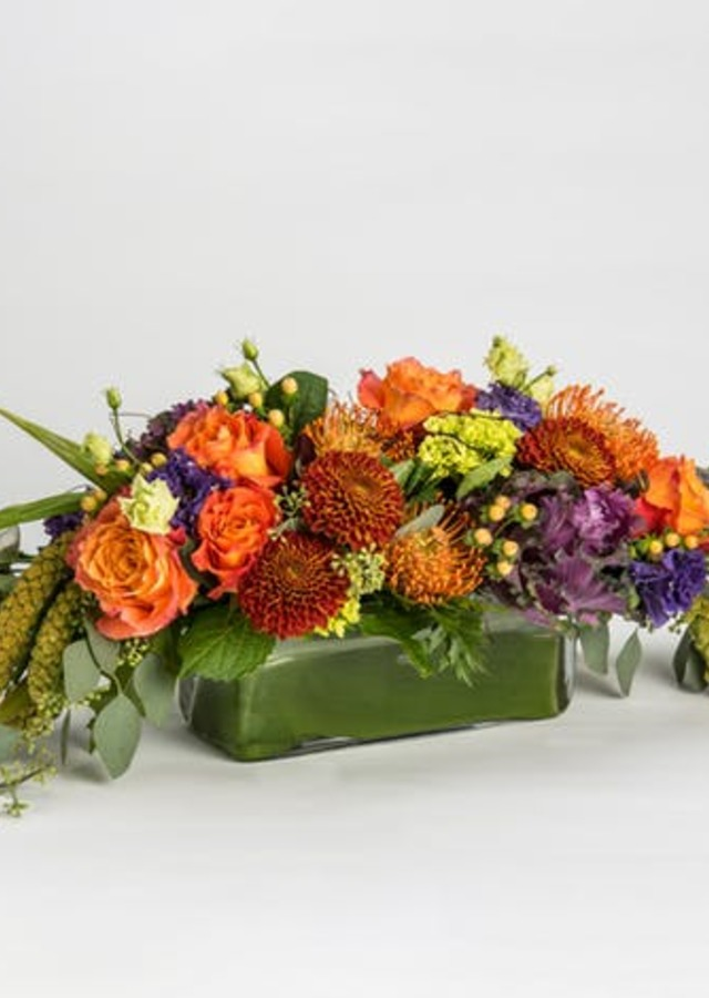 Display of Autumn Abundance Centerpiece by The Flower Alley