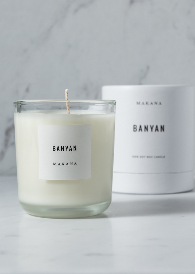 Display of Banyan - Classic Candle by The Flower Alley