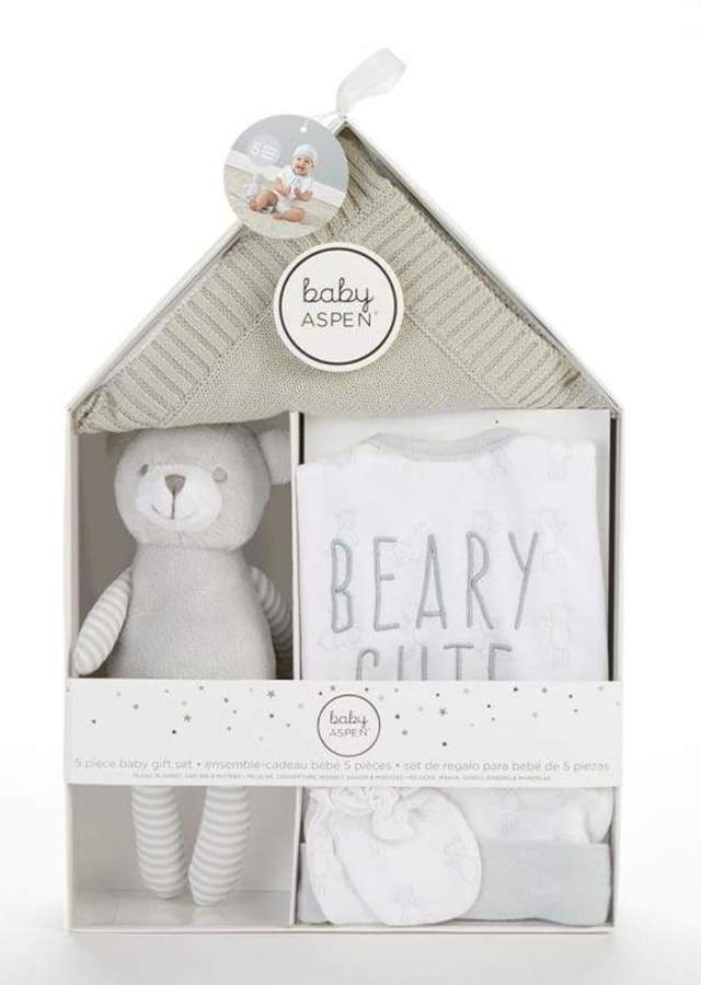 Display of Beary Cute 5-Piece Welcome Home Gift Set by The Flower Alley
