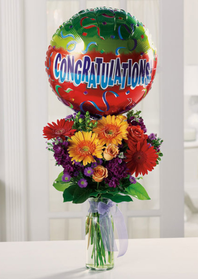 Best Wishes & Congratulations! by The Flower Alley