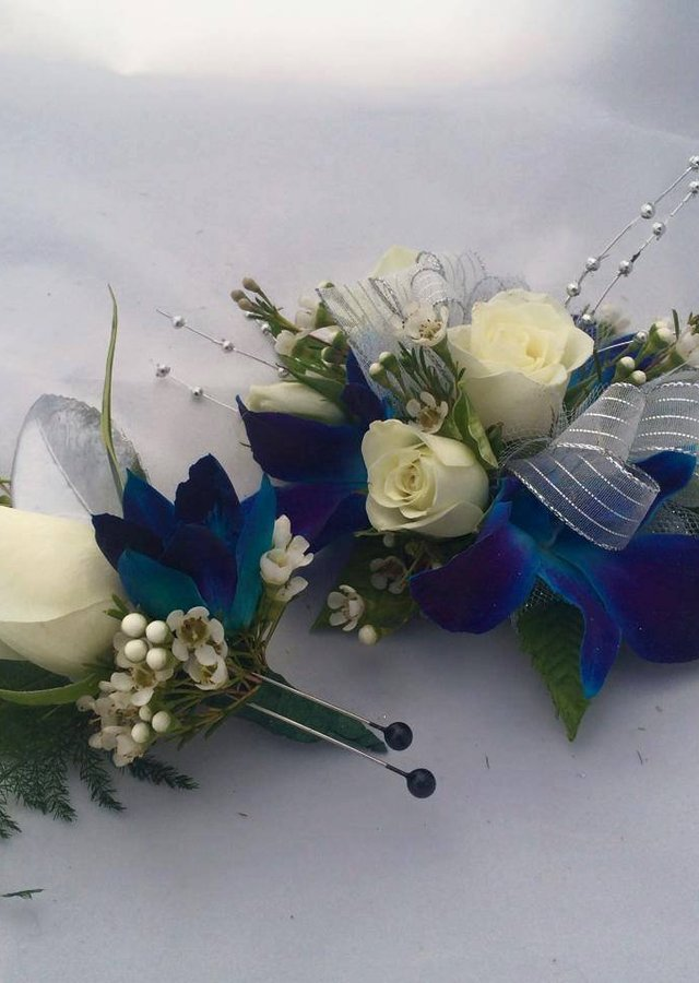 Blue & White Matching Set (Orchids) by The Flower Alley