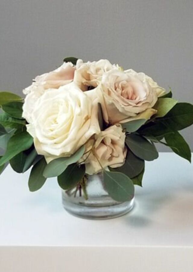 Display of Blush Collection: Small Centerpiece by The Flower Alley