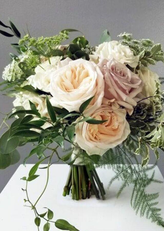 Display of Blush Garden: Medium Bouquet by The Flower Alley