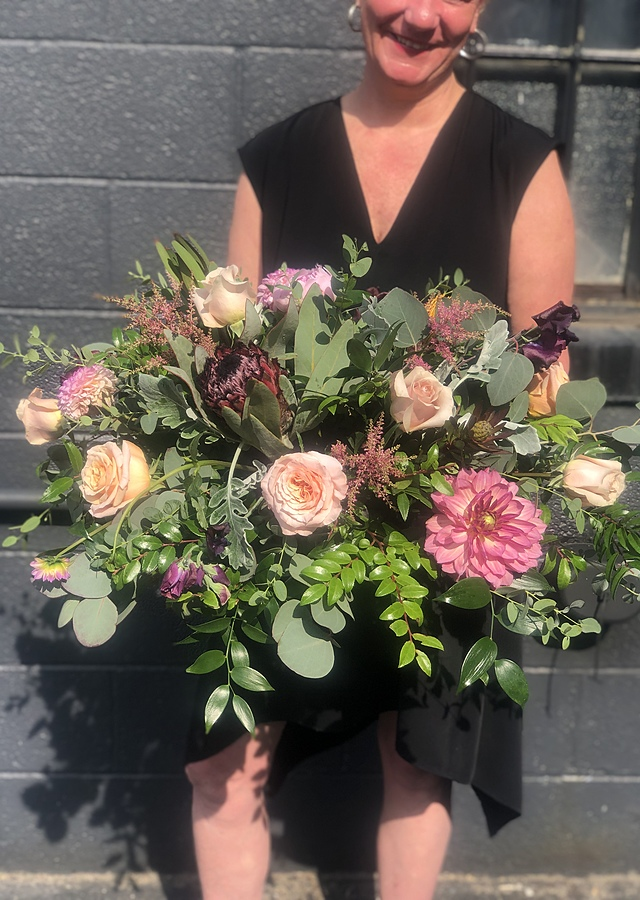 Bohemian Chic Centerpiece by The Flower Alley