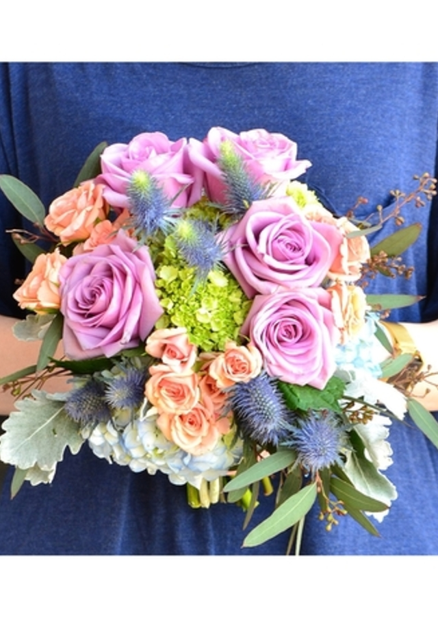 Display of Boho Chic: Hand Held Bouquet by The Flower Alley