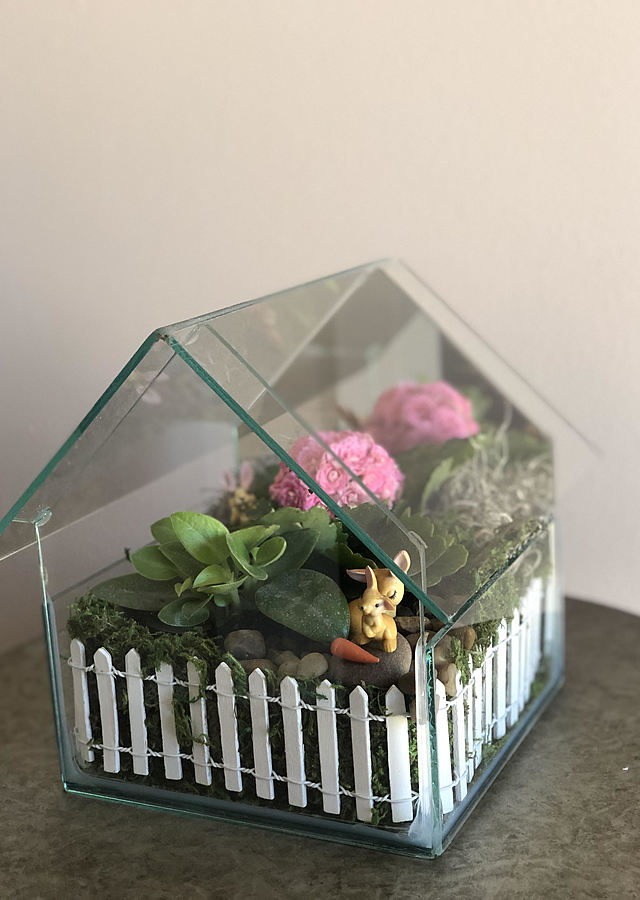 Display of Bunny Terrarium by The Flower Alley
