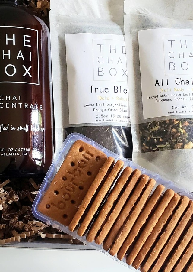 Display of Chai + Biscuit Gift Set - Save $10 by The Flower Alley