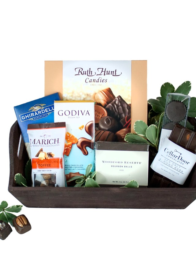 Chocolate Addiction Basket by The Flower Alley