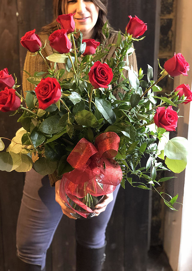 Classic Red Roses by The Flower Alley