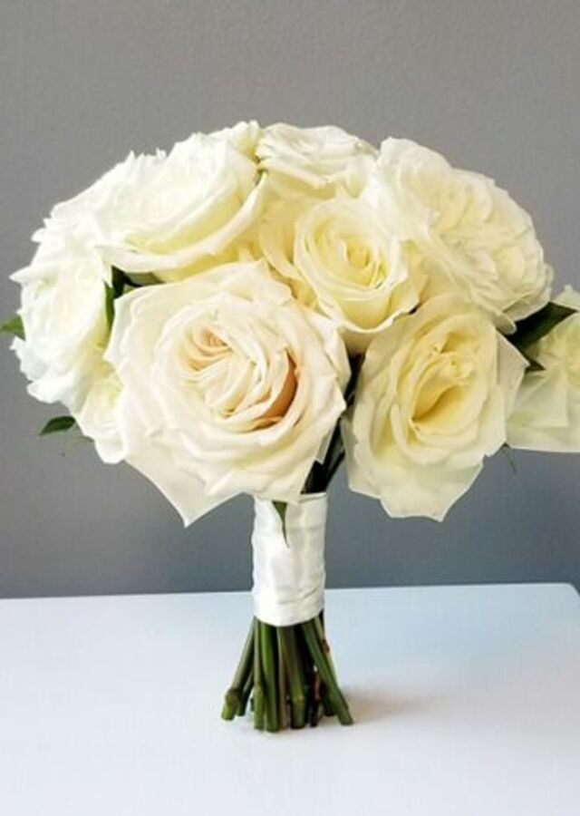 Display of Classic Roses: Medium Bouquet by The Flower Alley