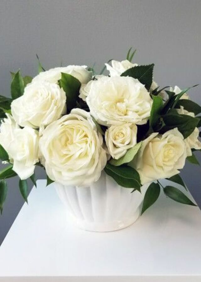 Display of Classic Roses: Medium Centerpiece by The Flower Alley