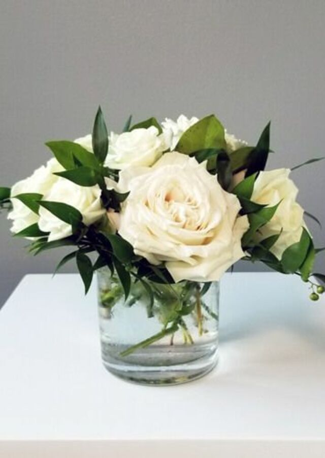 Display of Classic Roses: Small Centerpiece by The Flower Alley