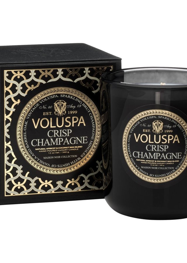 Display of Crisp Champagne Maison Candle by The Flower Alley
