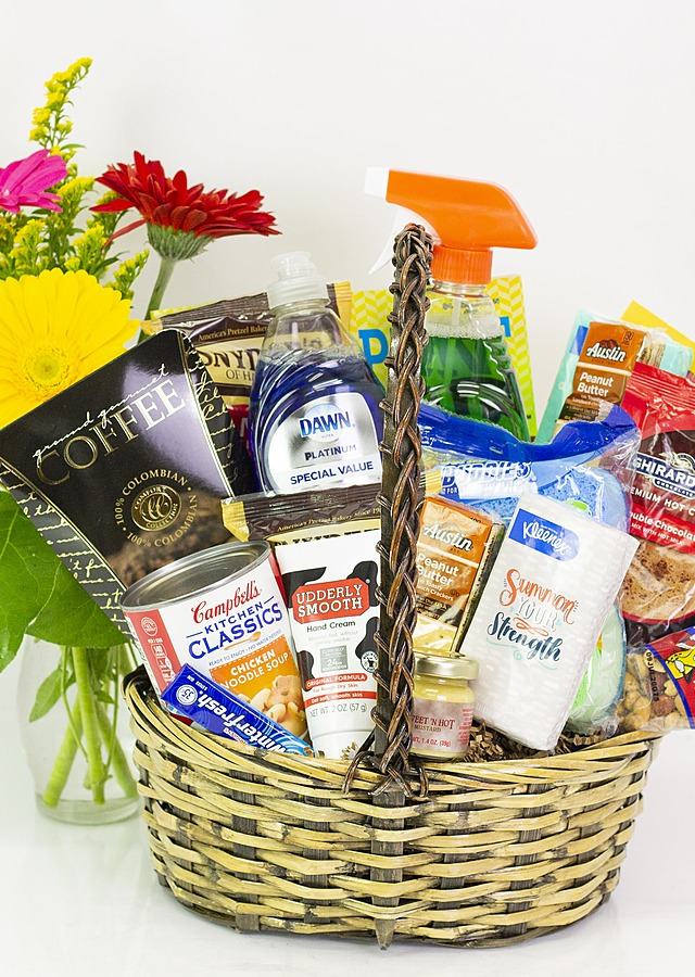 Display of Daily Essential's Basket by The Flower Alley
