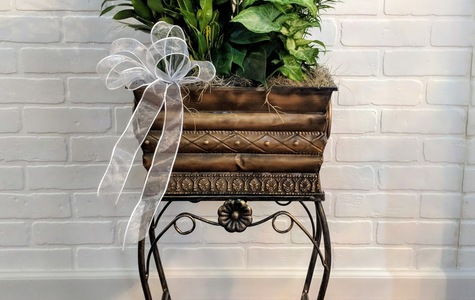 Display of Deluxe Floor Stand Green Planter by The Flower Alley