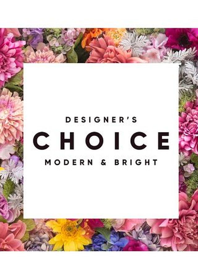 Display of Designer's Choice Bouquet: Bright and Bold by The Flower Alley