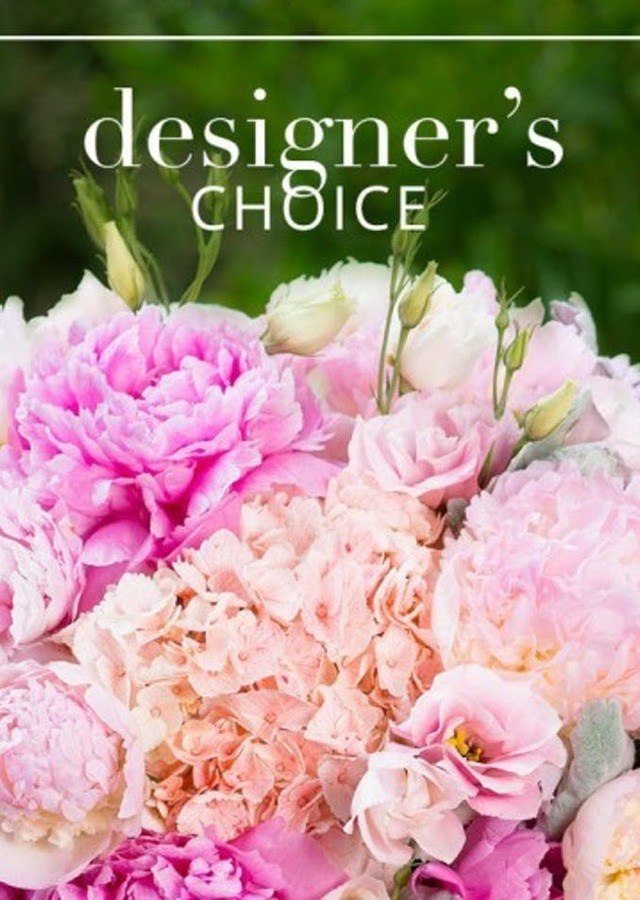 "Display of Designer's Choice"" Lush Pink by The Flower Alley"