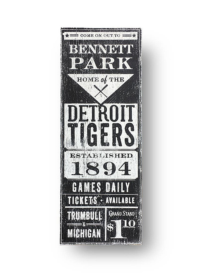 Display of Detroit Tigers Retro by The Flower Alley
