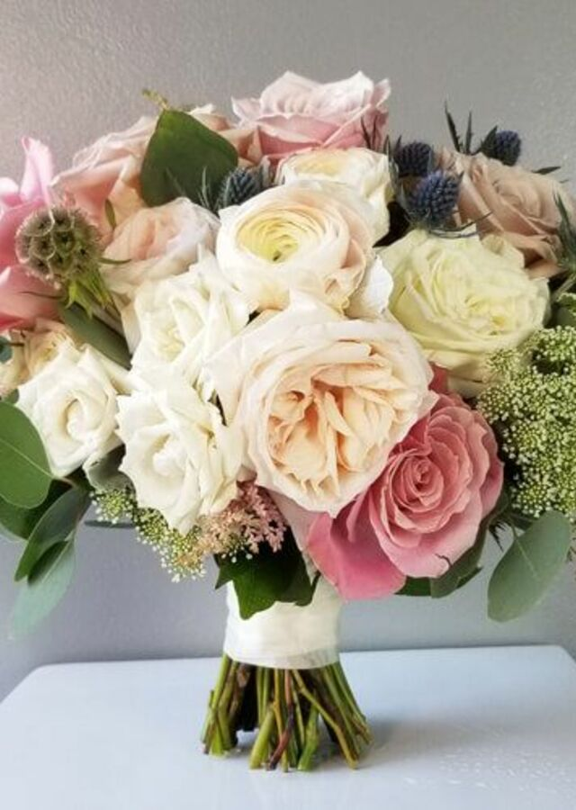 Display of Dusty Blush: Large Bouquet by The Flower Alley