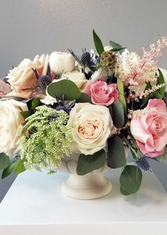 Display of Dusty Blush: Large Centerpiece by The Flower Alley