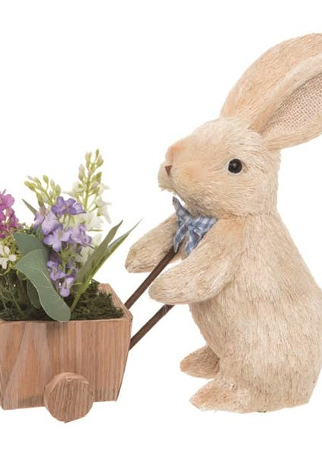 Display of Easter Bunny with Wheelbarrow by The Flower Alley