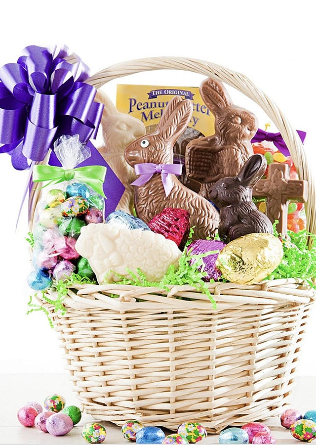 Display of Easter Candy Basket by The Flower Alley