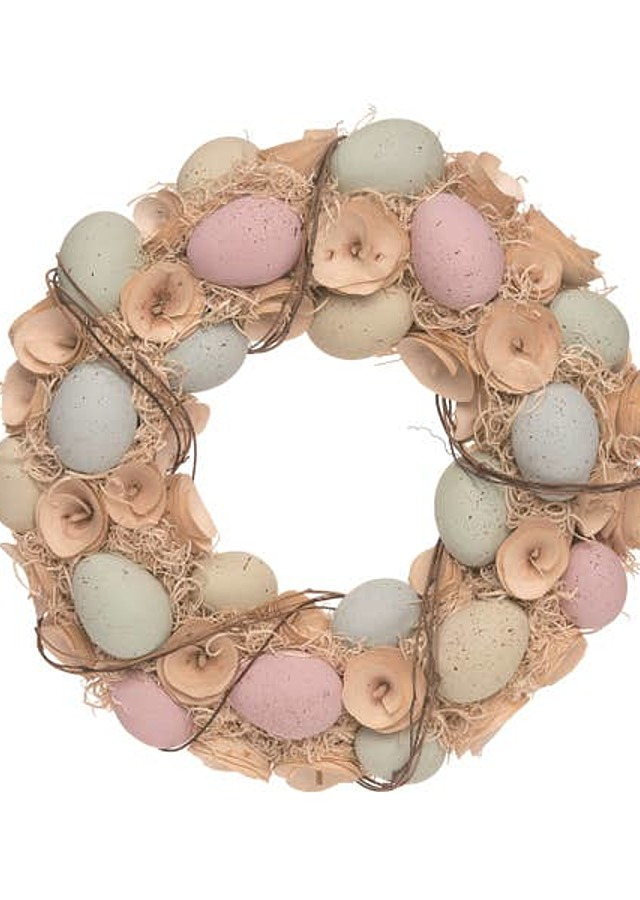 Display of Easter Egg Wreath by The Flower Alley