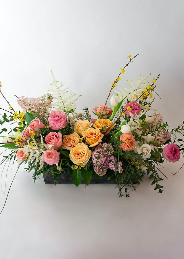 Display of Endless Spring Centerpiece by The Flower Alley