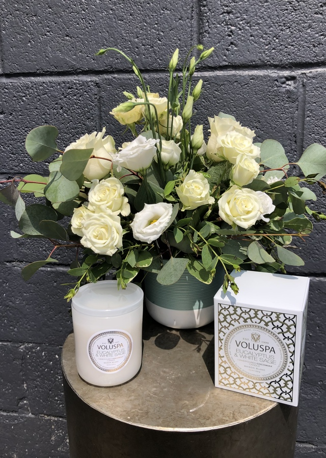 Display of Eucalyptus and White Sage by The Flower Alley