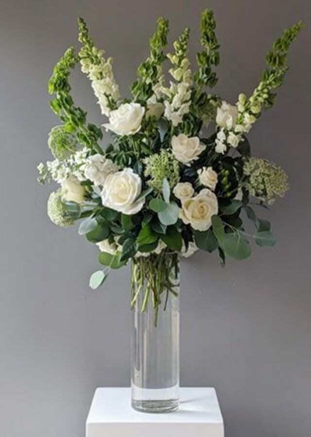 Display of Event Collection: Tall Vase Arrangement by The Flower Alley