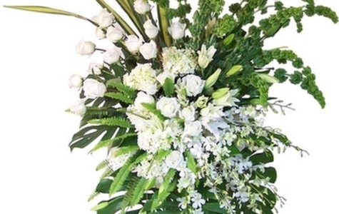 Display of Exquisite Tribute | Standing Spray by The Flower Alley