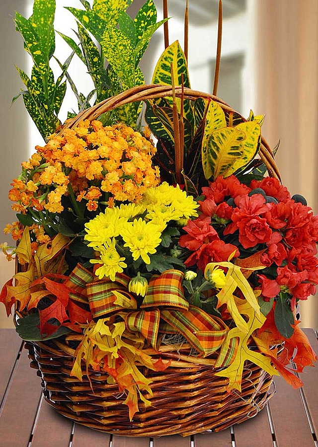 Display of Fall Garden Basket by The Flower Alley