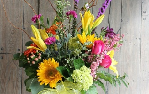 Display of Farm Fresh Bouquet Designers Selection by The Flower Alley