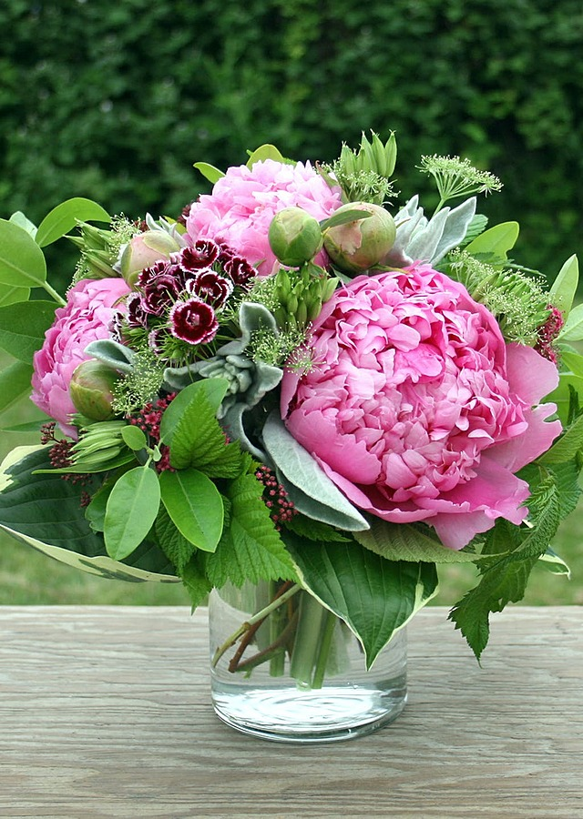 Display of Farm Fresh Peony Vase by The Flower Alley