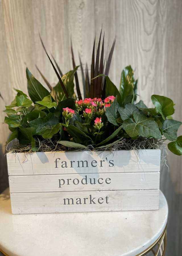 Display of Farmers Market Planter by The Flower Alley