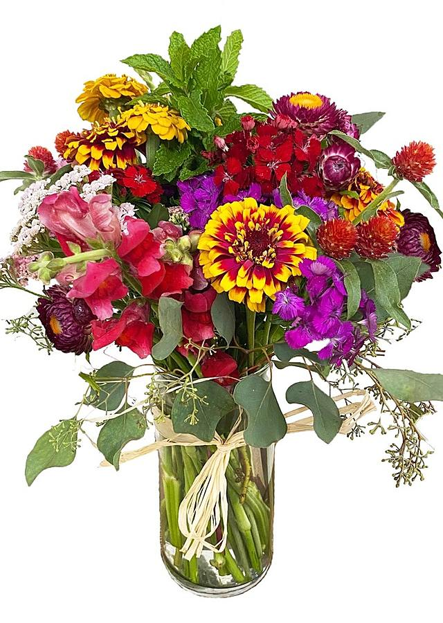 Display of Farmstead Bouquet by The Flower Alley