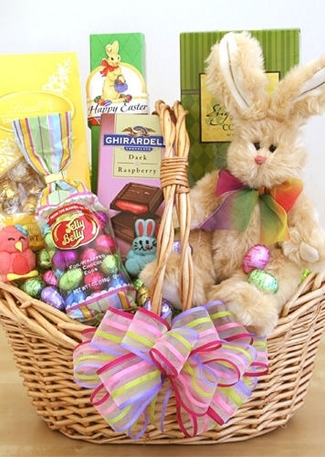 Display of Festive Easter Basket by The Flower Alley