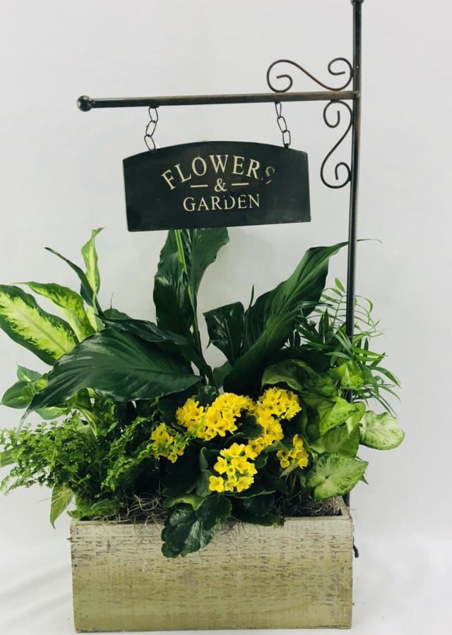 Display of Flower & Garden Planter Basket by The Flower Alley
