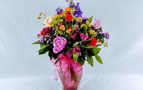 Display of Summer Flower Abundance: Designer's Choice by The Flower Alley