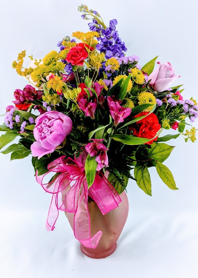 Display of Summer Flower Abundance: Designer's Choice by The Flower Alley