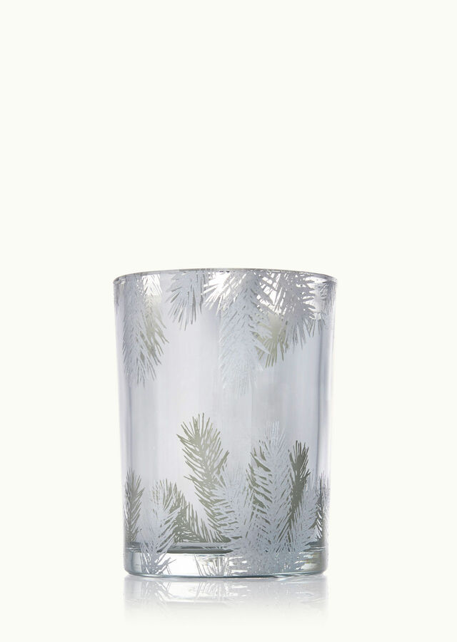 Display of Frasier Fir Luminary Candle by The Flower Alley
