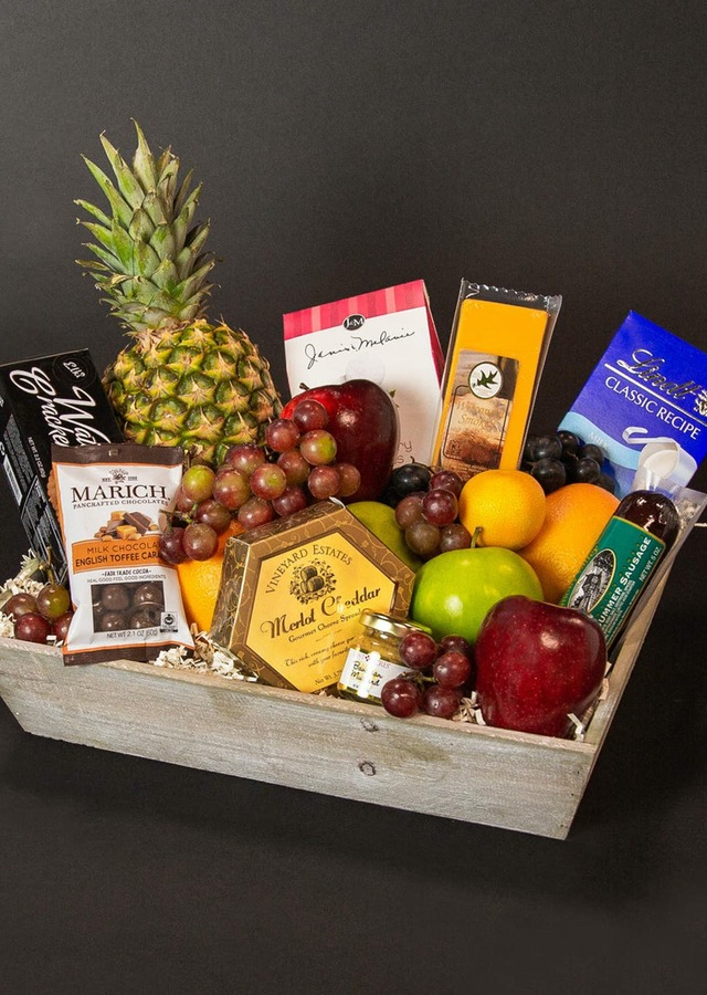 Fruit and Gourmet Basket by The Flower Alley