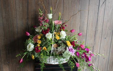Display of Garden Fresh Summer Basket by The Flower Alley