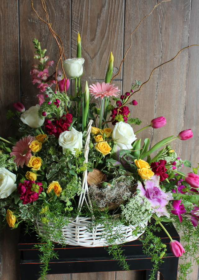 Display of Garden Fresh Spring Basket by The Flower Alley