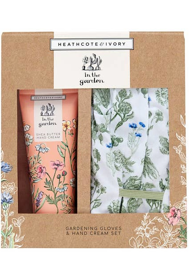 Display of Gardening Glove/Hand Cream Kit by The Flower Alley