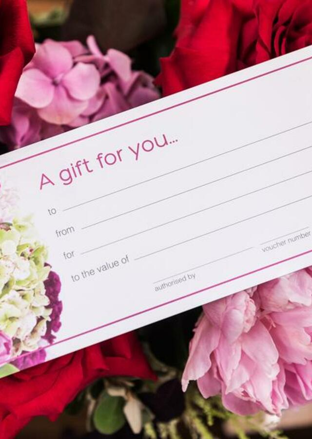 Display of Gift Certificate $75.00 by The Flower Alley