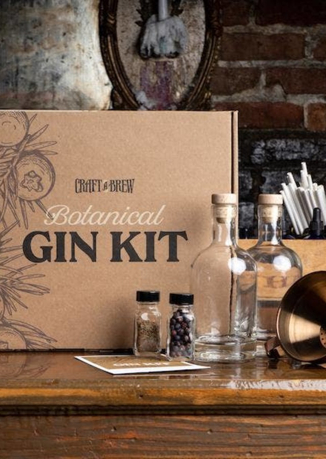 Display of Gin Making Kit by The Flower Alley