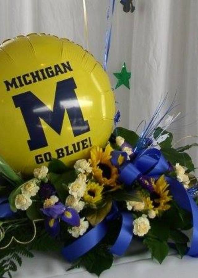 Display of Go Blue! by The Flower Alley